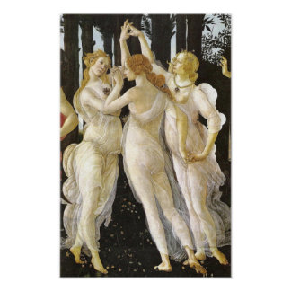 Botticelli Three Graces Renaissance Fine Art Poster