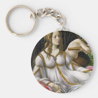 Botticelli Venus y Marte Llavero Redondo Tipo Pin