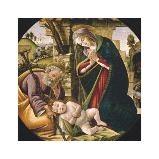 Botticelli's Adoration of the Christ Child Gallery Wrap Canvas