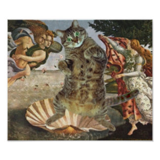 Botticelli's famous Venus is really a cat Poster