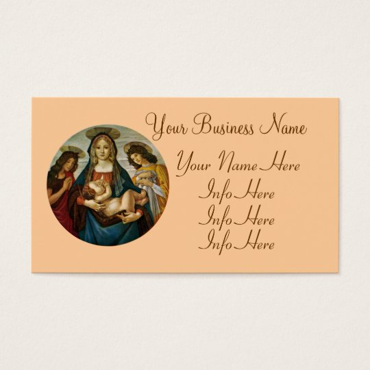 Botticelli's Madonna And Child Business Card