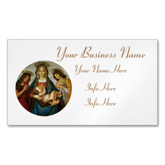 Botticelli's Madonna And Child Magnetic Business Card