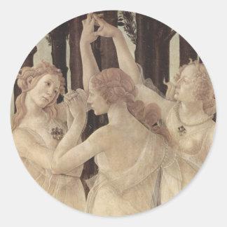 Botticelli's Three Graces Stickers