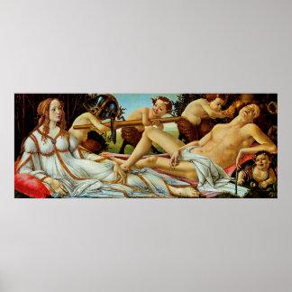 Bottichelli's Venus and Mars Poster