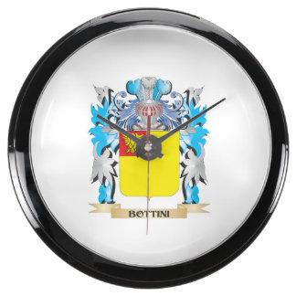 Bottini Coat of Arms Aqua Clocks