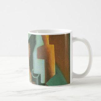 Bottle and Fruit Dish by Juan Gris, Vintage Cubism Coffee Mug