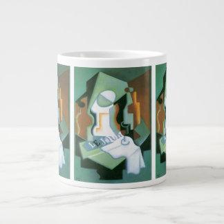 Bottle and Fruit Dish by Juan Gris, Vintage Cubism Giant Coffee Mug