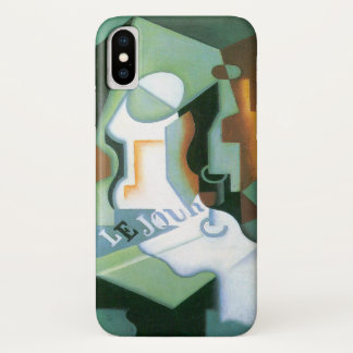 Bottle and Fruit Dish by Juan Gris, Vintage Cubism iPhone X Case