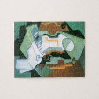 Bottle and Fruit Dish by Juan Gris, Vintage Cubism Jigsaw Puzzle