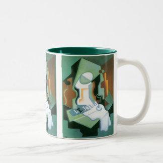 Bottle and Fruit Dish by Juan Gris, Vintage Cubism Mug