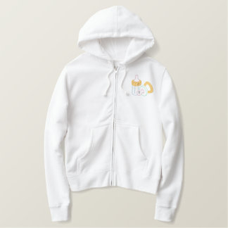 Bottle and Pacifier Embroidered Hoodie