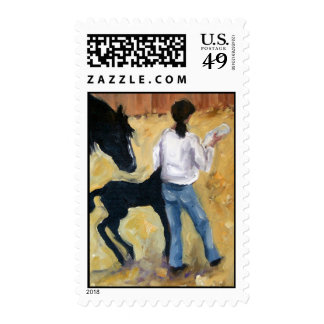 Bottle Baby Postage Stamps