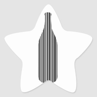 Bottle bar code star sticker