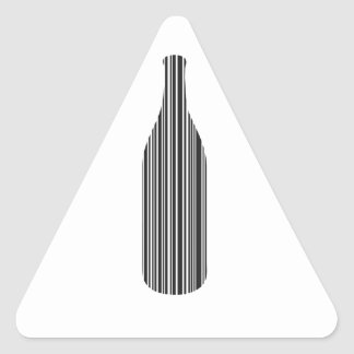 Bottle bar code triangle sticker