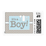 Bottle Binky Rattle Baby Its a Baby Boy Postage