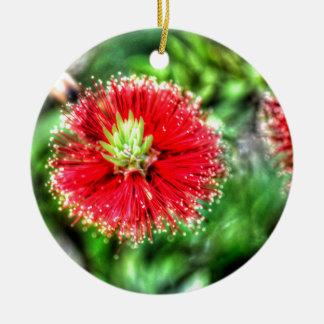 BOTTLE BRUSH FLOWER CALLISTEMON AUSTRALIA CERAMIC ORNAMENT