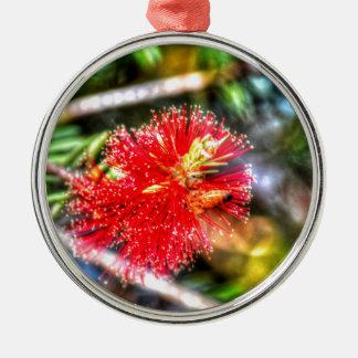 BOTTLE BRUSH FLOWER CALLISTEMON & BEE AUSTRALIA METAL ORNAMENT