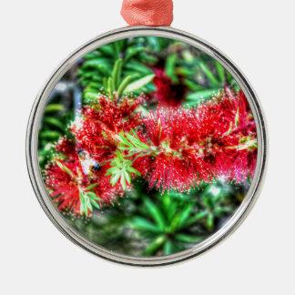 BOTTLE BRUSH FLOWER RURAL QUEENSLAND AUSTRALIA METAL ORNAMENT
