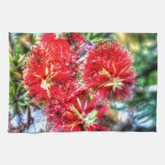 BOTTLE BRUSH FLOWERS CALISTEMON AUSTRALIA KITCHEN TOWEL