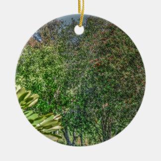BOTTLE BRUSH TREE AUSTRALIA ART EFFECTS CERAMIC ORNAMENT