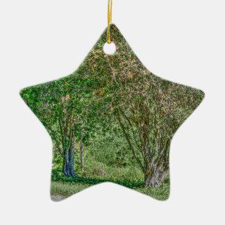 BOTTLE BRUSH TREE CALLISTEMON AUSTRALIA ART EFFECT CERAMIC ORNAMENT