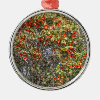 BOTTLE BRUSH TREE CALLISTEMON AUSTRALIA ART EFFECT METAL ORNAMENT