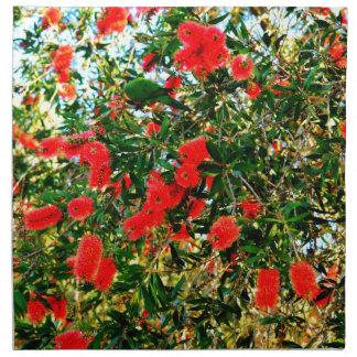 BOTTLE BRUSH TREE RURAL QUEENSLAND AUSTRALIA CLOTH NAPKIN