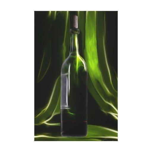 Bottle_canvas verdes del vino impresión en tela