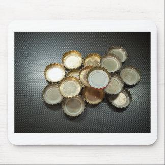 Bottle caps mouse pad