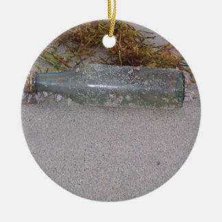 Bottle Ceramic Ornament