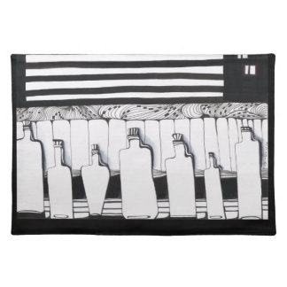 Bottle Collection Cloth Placemat