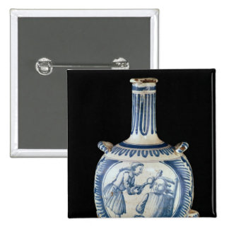 Bottle depicting a dentist 2 inch square button