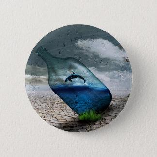 Bottle Dolphin in Dessert Button