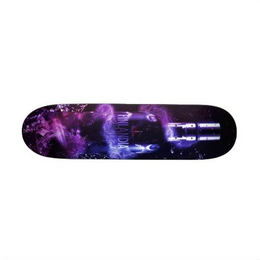 Bottle effect skateboard.