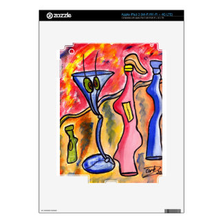 Bottle Figures Decal For iPad 3