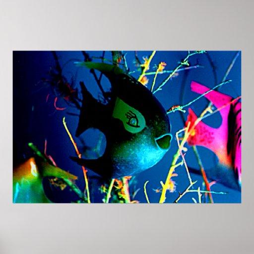 """BOTTLE FISH Colossal 72"""" x 52"""" jGibney Giclée Art Poster"""
