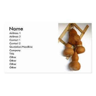 Bottle gourds business card
