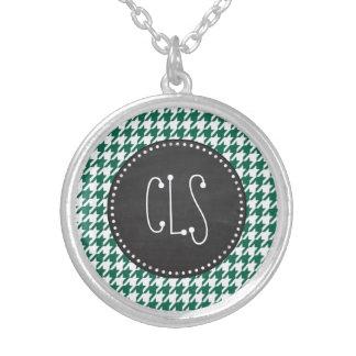 Bottle Green Houndstooth; Retro Chalkboard Jewelry