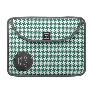 Bottle Green Houndstooth; Retro Chalkboard Sleeve For MacBooks