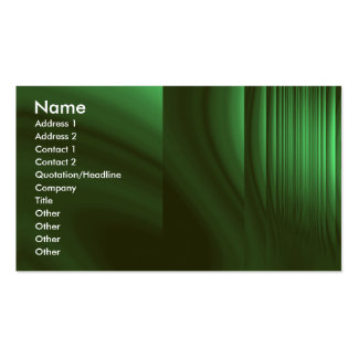 Bottle Green Refraction Double-Sided Standard Business Cards (Pack Of 100)