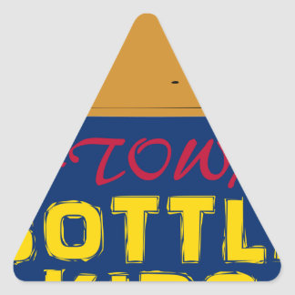 Bottle Kids 40 oz Triangle Sticker