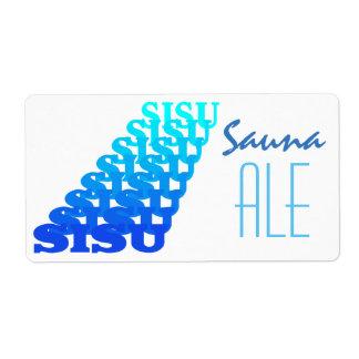 Bottle Labeling Fun Repeat Visual Sisu Sauna Ale Label