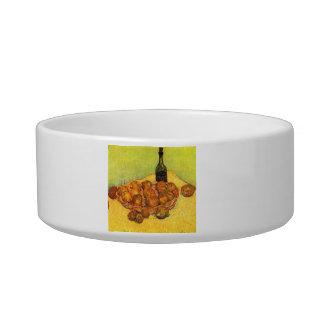 Bottle, Lemons and Oranges by Van Gogh Cat Water Bowls