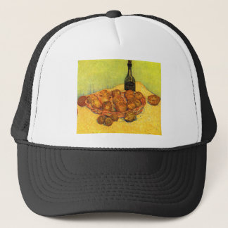 Bottle, Lemons and Oranges by Van Gogh Trucker Hat