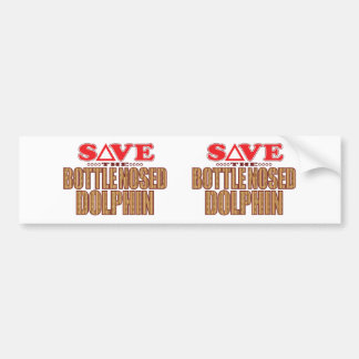 Bottle Nosed Dolphin Save Bumper Sticker