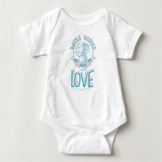 Bottle Nursed with Love Bodysuit Pink/Blue