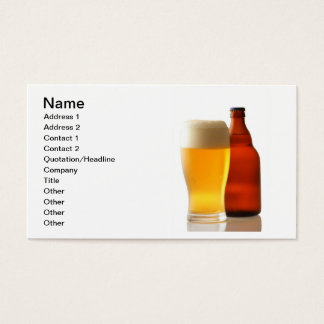 Bottle of Beer Business Card