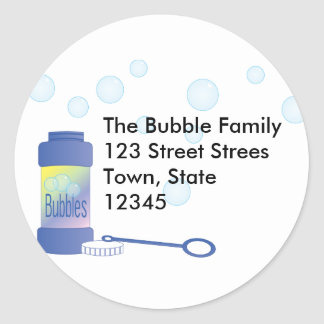 Bottle of Bubbles Classic Round Sticker