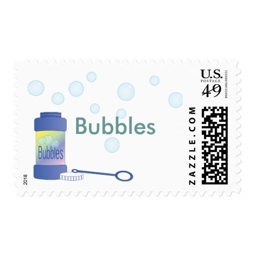 Bottle of Bubbles Postage Stamps