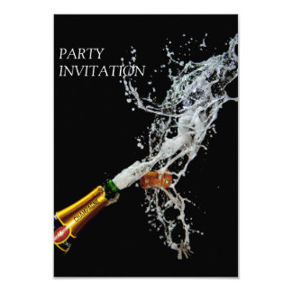 Bottle of Champagne Party Invitation